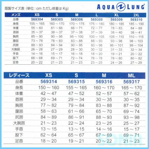 AQUALUNG(アクアラング)5.5mmPleasantWetSuitsプレザント・ウェットスーツ2017(手足首ファスナー付き)02P03Dec16