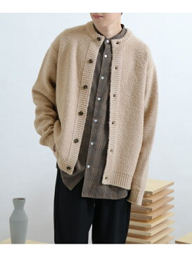 [Rakuten Fashion]ブークレクルーネックカーディガン SENSE OF PLACE センス オブ プレイス ニット カーディガン グレー【送料無料】
