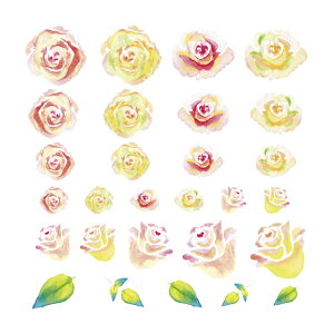 ☆水彩独特のにじみやグラデーションで色のバリエーションも豊富です☆TSUMEKIRA (ツメキラ) ...