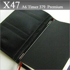 X47 ドイツ製 システム手帳 A6 (ブラック)カウハイドA6 Timer 379Premium 【送料無料】【smtb...