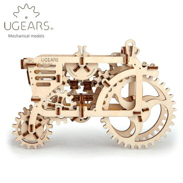 Ugears ユーギアーズ 木製組立立体パズル トラクター