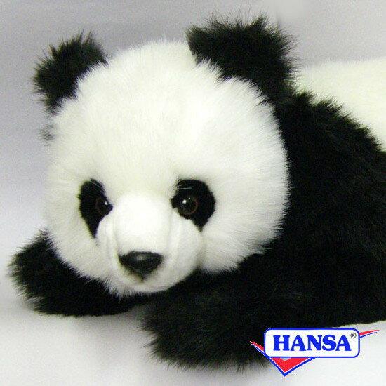 ぬいぐるみ・人形, ぬいぐるみ HANSA 4182 PANDA BEAR CUB LAYING