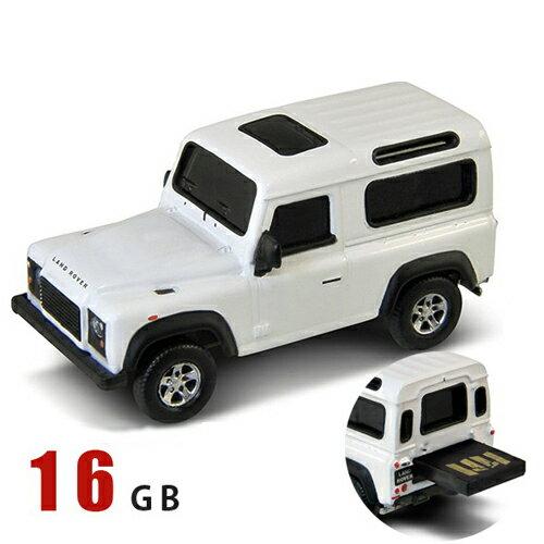 AUTODRIVE オートドライブ USBメモリーLand Rover Defenderランドローバーディフェンダー ホワイト 白 USBメモリ 16GB画像