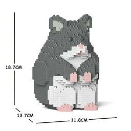 JEKCA ジェッカブロック ハムスター グレー 01S-M02 Sculptor 立体パズル 組立パズル