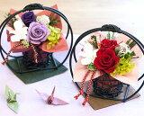 母の日 和風プリザーブドフラワー「花月」3色から選べます お母さん お父さん 高16,5cm×幅16,5cm 母の日 還暦祝い 古希祝い 喜寿祝い プレゼント プリザーブドフラワー ギフト