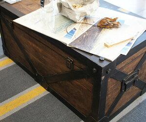 アンティークトランクMTroll(トロール)アンティークレトロ小物雑貨収納家具IW-982W76×D38×H35cm木製ウッドアンティーク風雑貨