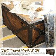 アンティーク トランク トロール テーブル ボックス