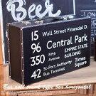 バスロールトランク型ボックス横型木箱トランク(バスサイン)ブラック木製【木箱ケース】【収納アンティーク】【木箱トランクアンティーク】【ウェルカムボックス】