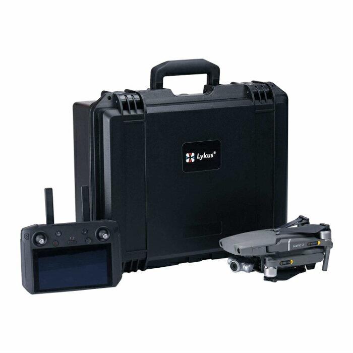 ドローンケースLykusライカスDJIMavic2スマートコントローラーハードケースDCP-120SGS認証IP67級防水防塵仕様マビック2FlyMoreKitも全収納