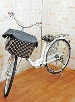 【ネコポスOK♪】自転車のワンポイントに!ラミネートサドルカバー