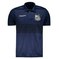 サントスFC公式Sデザイン襟付きTシャツ【Kappa】エンブレム付き|ネイビー