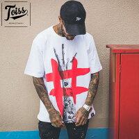 【TOISS】トイス#ハンドデザインTシャツホワイトネイマールブランド