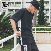 【TOISS】サイドボーダーロゴTシャツブラックネイマールブランド