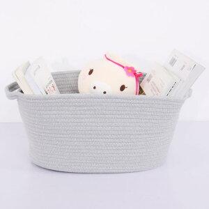 uxcell送料無料収納ボックスコットンロープバスケット折り畳み式収納バッグビニール袋おもちゃボックス服タオル収納果物小物入れホーム家庭用グレー楕円形