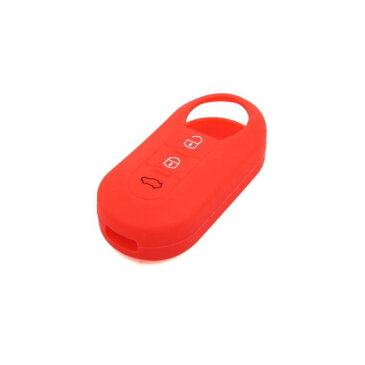 uxcell 送料無料 リモートキーケース キーカバー キーホルダー シリコーン 3つボタン レッド フィアット 500 ビアッジョ オッティモ ティポに適用