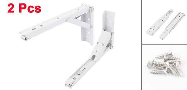 uxcell送料無料棚受け金具サポートブラケット19.5cmx11cm折り畳み式ブラケットウォールマウント