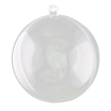 uxcell 送料無料 家庭用 パーティー プラスチック ぶら下がる クリスマスツリー DIY 飾り 開ける 小球 ボール 透明