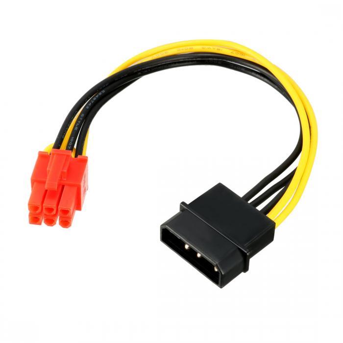 ソウテン uxcell PCIエクスプレスビデオカード電源ケーブル LP4-6ピンPCIEエクスプレスビデオカード 電源ケーブル アダプタ 20日発送予定