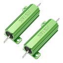 ソウテン uxcell メタルクラッド抵抗 アルミニウムハウジング抵抗 リングドアベル抵抗器 50W 1.5 Ohm グリーン 2個入り