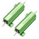 ソウテン メタルクラッド抵抗 アルミニウムハウジング抵抗 リングドアベル抵抗器 50W 40 Ohm グリーン 2個入り