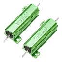 uxcell アルミニウムハウジング抵抗 リングドアベル抵抗器 50W 20 Ohm グリーン 2個入り
