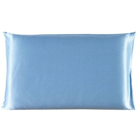 ソウテン 枕カバー ピローカバー マルベリーシルク100% シルク枕カバー 美肌 髪 トラベルサイズ 36cmx51cm ブルー