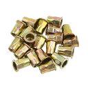 ソウテン リベットナット M8 真鍮トーン 炭素鋼 スレッド 半...