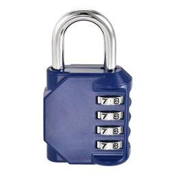 ソウテン 組み合わせ南京錠 亜鉛合金製 ブルー セキュリティコード番号の数字 屋外防水保管室 トラベルスイートケース荷物 80x43x20mm