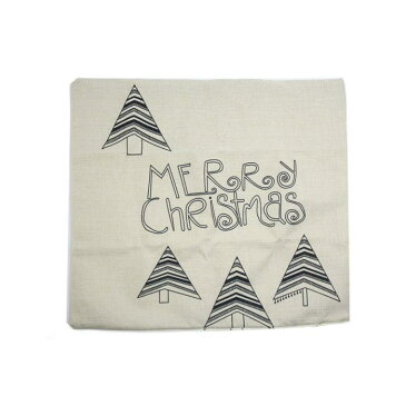 ソウテン uxcell カースローピローカバー リネン ブラック ベージュ リネン投げ枕カバー メリークリスマス 1個入り