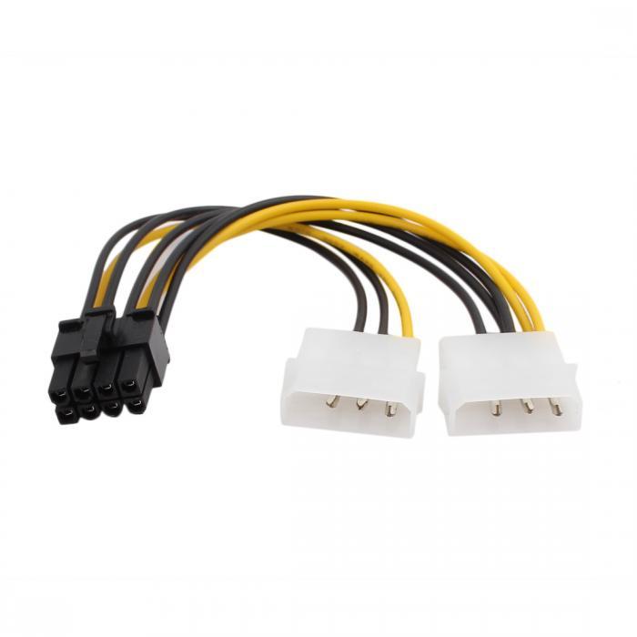 ソウテン uxcell ケーブル アダプター ビデオカード コネクター プラスチック製 LP4ー6ピン PCI 20日発送予定