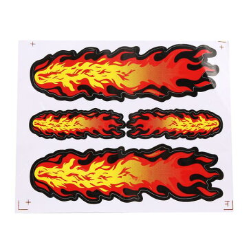 ソウテン uxcell 装飾 ステッカー 火炎 パターン 貼り付け 装飾 自動車用 デカール