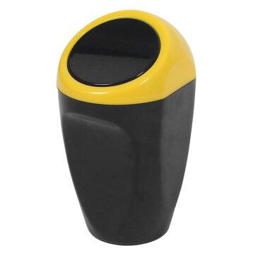 ソウテン uxcell 車のごみ箱 車のダストビン 車両ゴミ箱 自動車廃棄物保管 プラスチック 9 x 8 x 15.5cm イエロー