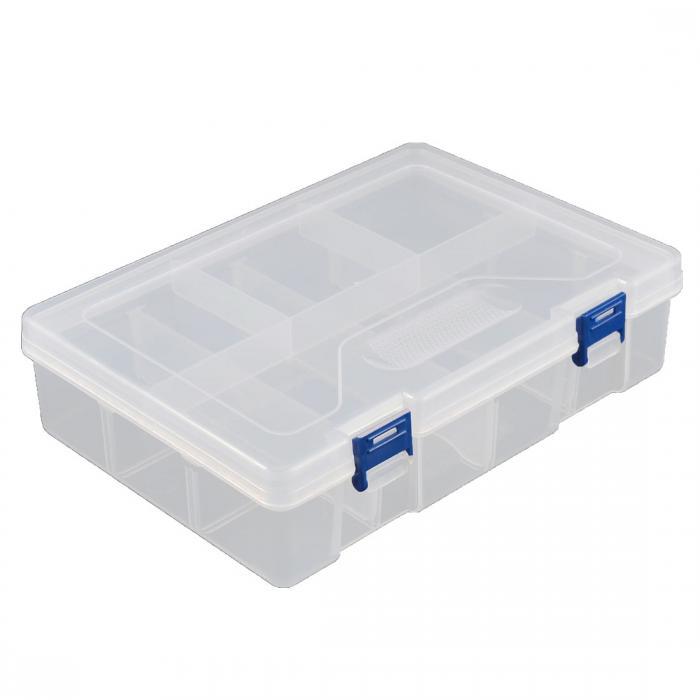 ソウテン ストレージボックス 分類ケース箱 整理箱 机トップ ツール 部品 ハードウェア プラスチック 調整可能