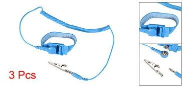 ソウテン 静電気防止用リストストラップ リストバンド 磁気トレイ 接地ワイヤ ワニクリップ 3個入り