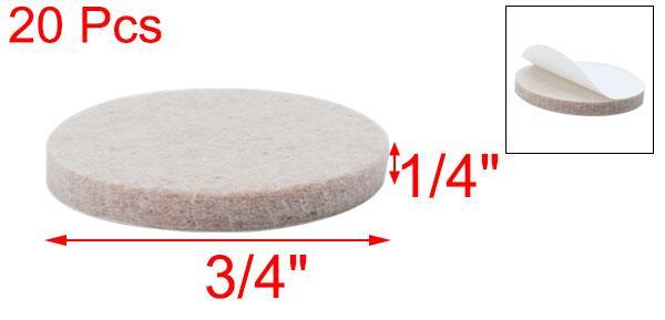 uxcellフェルトパッド家具用円形20mm自己接着傷防止フロアプロテクター20個入り