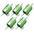 ソウテン 25W 1.5オーム シャーシマウント巻線型 パワー抵抗器 アルミニウム覆われ グリーン 5個セット