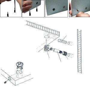 uxcell送料無料家具カムロック継手家具接続継手直径13mm亜鉛合金シルバートーン50個入り