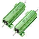 ソウテン メタルクラッド抵抗 アルミニウムハウジング抵抗 リングドアベル抵抗器 50W 22 Ohm グリーン 2個入り