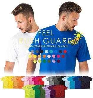 feel feel men's loose RashGuard 55% off loose RashGuard/UV cut and UV protection and immediately dry, quick dry and rash guard/RashGuard loose/らっしゅ Sarsgaard /