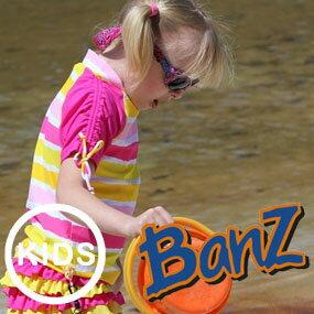 Banz バンズ キッズ(女の子用) ラッシュトップ/ラッシュガード 半袖ルーズ
