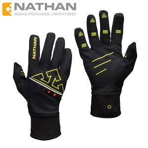 NATHAN(ネイサン)IgniterSoftshellGloveグローブLEDライト付きトレイルランニングに最適♪【トレラン/ランニング/ジョギング/マラソン/ギア/手袋/防寒】