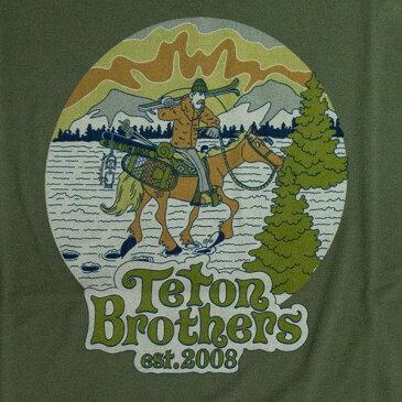 ティートンブロス メンズ 半袖Tシャツ トレイルランニング・ウェア Teton Bros TB Ski Cowboy Tee TB19349010 【トレイルラン/トレラン/ランニング/マラソン/トレッキング/ウェア】
