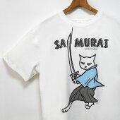 猫Tシャツセンスファッションクールユニーク白シャツねこプリント男女