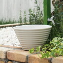【水鉢】【ガーデンパン】小さな可愛いガーデンパン「ガーデンポット ホワイト」水受け【送料無料】