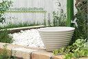 【水鉢】【ガーデンパン】小さな可愛いガーデンパン「ガーデンポット ホワイト」水受け【送料無料】 3
