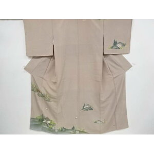 Artist's hand-painted house scenery pattern Visit clothes [Recycle] [Used] [Ki] sou