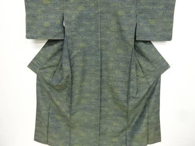 抽象模様織り出し手織り紬着物【リサイクル】【中古】【着】 宗sou