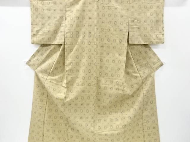 絣柄織り出し手織り紬着物【アンティーク】【中古】【着】 宗sou