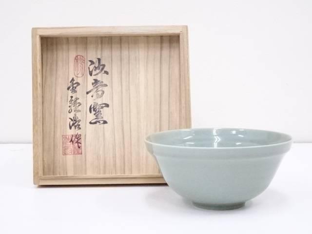 產品詳細資料,日本Yahoo代標 日本代購 日本批發-ibuy99 興趣、愛好 藝術品、古董、民間工藝品 其他 金鍾浩造 高麗青磁茶碗【中古】【道】 宗sou