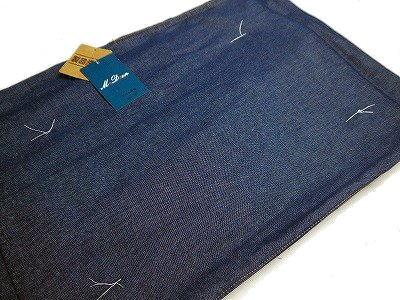 メンズデニム着物洗える着物濃いブルー、ブルー、黒M/L/LL寸送料無料